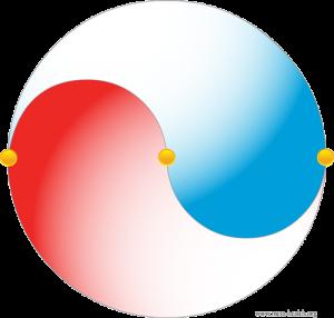 Faser yin yang